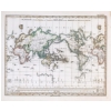 Planiglob in Mercator Projection - Stielers Weltatlas von 1851