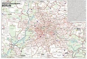 Historische Karte Potsdam.Postleitzahlenkarte Berlin Und Potsdam Din A3 Dickes