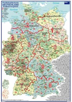 Postleitzahlen Karte Deutschland.Postleitzahlenkarte Deutschland Postleitzonengebiete