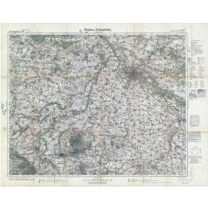 Breslau Karte 1930.Einheitsblatt 104 Breslau Schweidnitz Neumarkt In