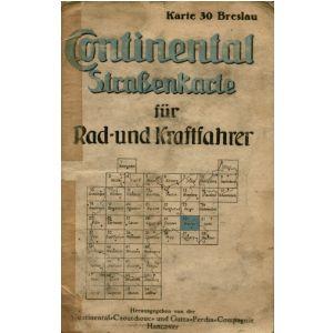 Breslau Karte 1930.Continental Strassenkarte Fur Rad Und Kraftfahrer Karte 30