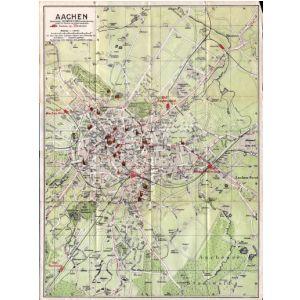 Aachen Karte Stadtteile.Historischer Stadtplan Von Aachen Februar 1927 1 13 000