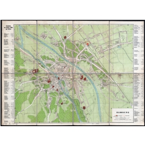Karte Bamberg Landkarte.Historischer Stadtplan Bamberg Ca 1910 Landkartenshop De