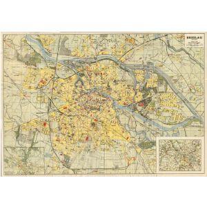 Breslau Karte 1930.Historischer Stadtplan Von Gross Breslau Mittlere Ausgabe