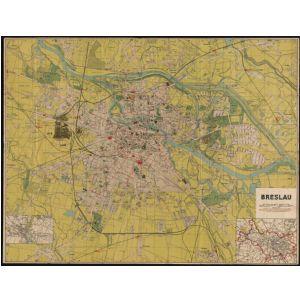 Breslau Karte 1930.Historischer Stadtplan Von Breslau Grosse Ausgabe Mit