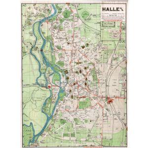 Halle Saale Karte.Historischer Stadtplan Von Halle An Der Saale 1904 1