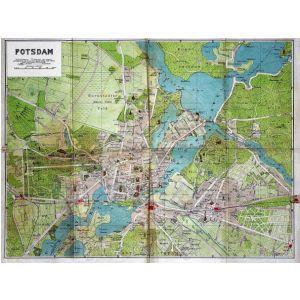Historische Karte Potsdam.Historischer Stadtplan Von Potsdam 1920 1 16 840