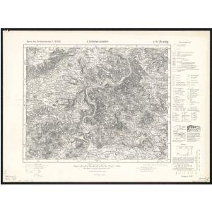 Karte Des Sudetenlandes 1 75 000 3752 Aussig 1939