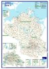 Postleitzahlenkarte Postleitzone 1 (70x100cm)