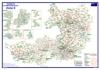 Postleitzahlenkarte Postleitzone 6 (DIN-A3)