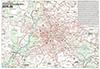 Postleitzahlenkarte Berlin mit Potsdam und Schönefeld - Mit allen Bezirken und Stadtteilen sowie einem Register (DIN-A3)