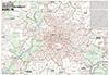Die große Postleitzahlenkarte Berlin mit Potsdam und Schönefeld - Mit allen Bezirken und Stadtteilen, Register und vielen Straßen mit Straßennamen (70x100cm)