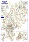 Postleitzahlenkarte Hessen (70x100cm)