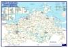 Postleitzahlenkarte Mecklenburg-Vorpommern (70x100cm)