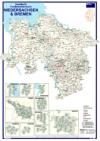 Postleitzahlenkarte Niedersachsen und Bremen (70x100cm)