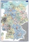 ORGA - Organisationskarte Deutschland mit Postleitzonengebiete (Coloriert Ausgabe, DIN-A3)
