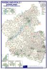Postleitzahlenkarte Rheinland-Pfalz und Saarland (70x100cm)