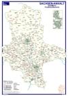Postleitzahlenkarte Sachsen-Anhalt (DIN-A3)