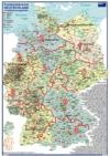 Postleitzahlenkarte Deutschland Postleitzonengebiete (Coloriert Ausgabe, DIN-A3)