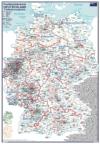 Postleitzahlenkarte Deutschland Postleitzonengebiete (DIN-A3)