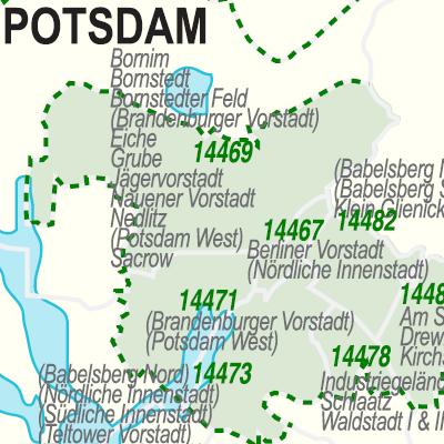 Potsdam Karte Stadtteile.Potsdam Plz Karte Hanzeontwerpfabriek