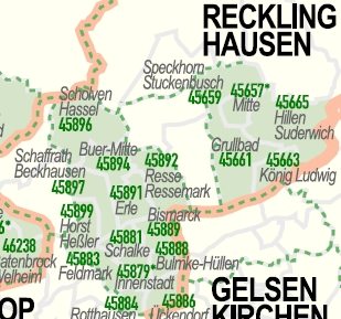 Karte Nrw Plz.Postleitzahlenkarte Nordrhein Westfalen Mit Detailplanen